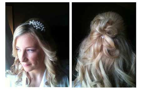 Bridal Hair half up / half down