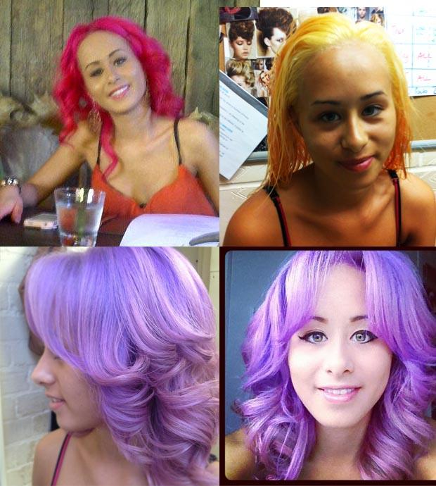 Purple Crazy Colour Hair