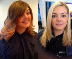 dip-dye before and after