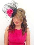 Shannon in Black Fascinator. By Madcap books £90