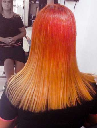 Red Dip Dye beautiful blend  while at The coach house