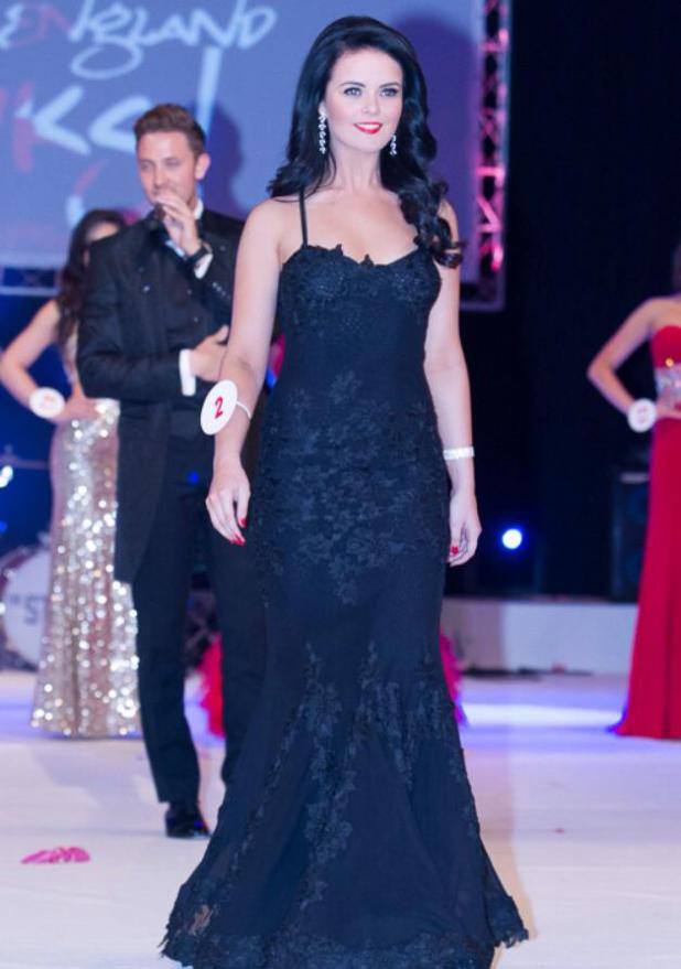 Holly  miss Buckinghamshire is evening gown