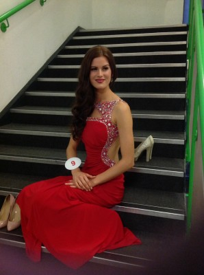 miss cambridgeshire Carina tyrrell 2014 Miss England back stage